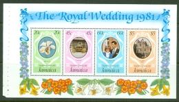 Jamaica: 1981   Royal Wedding - Booklet Panel   SG516ba    MNH - Jamaica (1962-...)