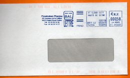 92 SAINT CLOUD   PROSTRAKAN PHARMA  2018  Lettre Entière 110x220 N° EMA MM 673 - Marcophilie (Lettres)