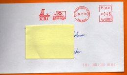 67 STRASBOURG  VIEUX PAPIERS  2001  Lettre Entière 110x220 N° EMA MM 679 - Freistempel
