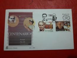 España FDC Centenario De Dr Rubio Y Luis Cernuda 2002 - FDC