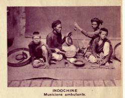 Chromo, Image, Vignette : Indochine, Musiciens Ambulants (6 Cm Sur 7 Cm) - Unclassified