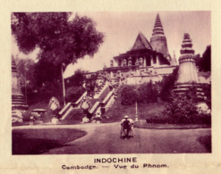 Chromo, Image, Vignette : Indochine, Cambdoge, Vue De Phnom (6 Cm Sur 7 Cm) - Unclassified