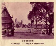 Chromo, Image, Vignette : Indochine, Cambdoge, Temple D'Angkor-Vat (6 Cm Sur 7 Cm) - Unclassified
