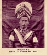Chromo, Image, Vignette : Indochine, Tonkin, Femme Pen Meo (6 Cm Sur 7 Cm) - Unclassified
