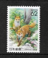 JAPON 1992 RENARD POLAIRE   YVERT N°1984  NEUF MNH** - 1989-... Imperatore Akihito (Periodo Heisei)