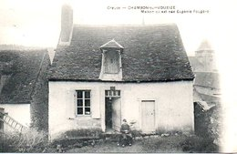 Maison Ou Est Née Eugenie Fougere Cpa Neuve - Chambon Sur Voueize