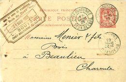 Carte Postale Mouchon Retouché 124 CP1 Date 304 - Cachet BOUTAUD CHEF BOUTONNE 79 - Tarjetas Precursoras