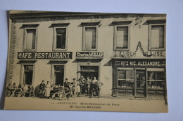 CPA 14. AMANVILLERS. Hôtel Restaurant De Paris Mr Charles MULLER 1922 - France