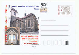 Rep. Ceca / Cart. Postali (Pre2014/46) Comunione Sotto Entrambi I Generi (1414) Praga, Chiesa Di San Martino Nel Muro - Teologi