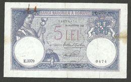 ROMANIA 5 LEI 1928 PICK # 19a VF - Romania