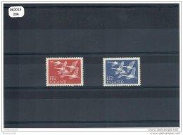 ISLANDE 1956 - YT N° 270/271 NEUF SANS CHARNIERE ** GOMME D´ORIGINE LUXE - Neufs