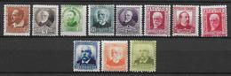 ESPAGNE - 1931/34 - YT 498/508 * CHARNIERE - COTE YVERT = 126 EURO - - 1931-50 Neufs
