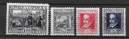 ESPAGNE - 1935 - YT 534/537 * CHARNIERE - COTE YVERT = 65 EURO - - 1931-50 Neufs