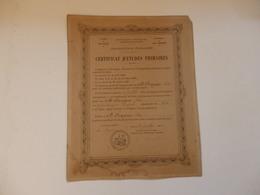 Certificat D'études Primaires De Melle Fraysse Ida Le 14 Juillet 1886 Dans Le 5éme Paris Née Le 7/01/1873 à Luzech (Lot) - Diplomi E Pagelle