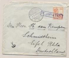 Nederlands Indië - 1930 - 12,5 Cent Wilhelmina Op Taxed Cover Van Halte TJIPATAT Via Buitenzorg Naar Eifel / Deutschland - Niederländisch-Indien