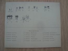 CARTE AVEC NOMS / MARECHAL JOFFRE GENERAL  GALLIENI, PETAIN,MICHELER.... - Dokumente