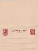 Lituanie Entier Postal Double - Lithuania