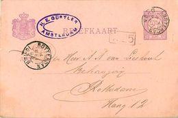 Carte Postale - Briefkaart - NEDERLAND 2 1/2 CENT - H.E. GÜRTLER - Entiers Postaux