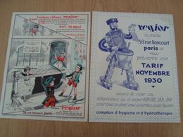 DOCUMENTS PUBLICITAIRES REGIOR APPAREILS SANITAIRES - Publicités
