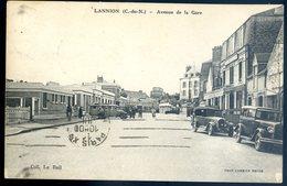 Cpa Du 22 Lannion Avenue De La Gare      Sept18-08 - Lannion