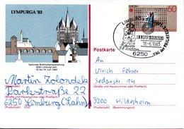"BRD Amtliche GZS-Sonderpostkarte PSo8 ""LYMPURGA'83 In Limburg/Lahn"" WSt ""Europamarke 1983"" 60(Pf), SSt 18.6.1986 LIMBURG - BRD"