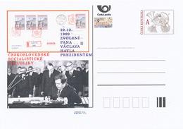 Rep. Ceca / Cart. Postali (Pre2014/50) 29.12.1989 Elezione Sig. Vaclav Havel Presidente Della Repubblica Socialista Ceco - Entiers Postaux