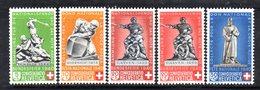284/1500 - SVIZZERA 1940 , Unificato N. 349/353  ***  MNH - Pro Patria