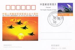 CHINE CHINA :   Entier Postal Du 50ème Anniversaire De La PLA Air Force Of China - 1949 - ... République Populaire