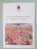 ITALIA, Venaria Reale Reggia, Depliant Con Francobollo In Taschina Interna, 3 Scan (copertina, Interno, Retro) - Musei