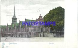 99736 DENMARK DANMARK KØBENHAVN COPENHAGEN BORSEN VIEW PARTIAL CIRCULATED TO GERMANY POSTAL POSTCARD - Dänemark