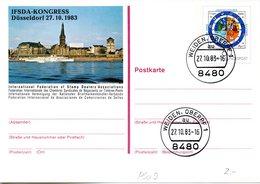 """BRD Amtliche GZS-Sonderpostkarte PSo 9 """"IFSDA-KONGRESS Düsseldorf"""" WSt """"400 Jahre Gregorianischer."""" 60(Pf), ETSt 2710.83 - BRD"""