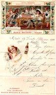 Menu Cartonné Hotel Moderne à Noirmoutier 1912 Ft :14.8 X 25 - Cartes Postales