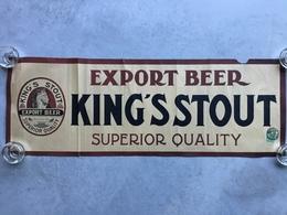 BRASSERIE BIÈRE «KING'S STOUT»Export Beer Supérieur Quality ( Affiche Ancienne 1929) 29,5 X 83 Cm... - Affiches