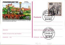 "BRD Amtliche GZS-Sonderpostkarte PSo 10 ""FERPHILEX'85 In Nürnberg"" WSt ""XIX. Weltpostkongreß.., TSt 13.8.85 - BRD"