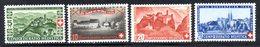 288/1500 - SVIZZERA 1944 , Unificato N. 395/398 ***  MNH - Pro Patria