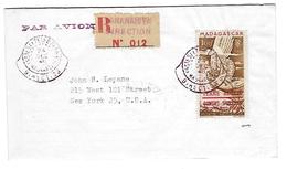 TAAF - Terre Adelie - Dumont D'urville - Paul Emile Victor - Pa1 - Madagascar - Recommandé - 2 Scans - ...-1955 Prephilately