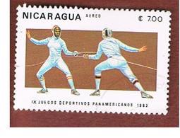 NICARAGUA - SG  2492    -    1983  PAN-AMERICAN GAMES: FENCING  -  USED° - Nicaragua