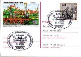 "BRD Amtliche GZS-Sonderpostkarte PSo 10 ""FERPHILEX'85 In Nürnberg"" WSt ""XIX. Weltpostkongreß.., SSt 16.9.1985 AUGSBURG - BRD"