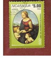 NICARAGUA - SG  2525    -    1983 RAFFAELLO (MADONNA OF GARDEN)     -  USED° - Nicaragua