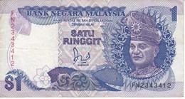 BILLETE DE MALASIA DE 1 RINNGIT DEL AÑO 1989 (BANKNOTE) - Malasia