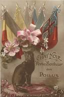 -ref X679- Guerre 1914-18- Illustrateurs - Illustrateur -chats - Chat Noir Porte Bonheur Des Poilus - Carte Bon Etat - - Guerra 1914-18