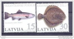 LATVIA 2004 Fish Set Of 2 MNH / **.  Michel 615-16 - Lettland