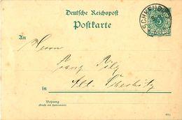 Carte Postale - Entier  ALLEMAGNE - Deutsche Reichspost - 5 Pfennig - SCHKEUDITZ - Enteros Postales