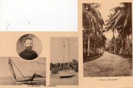 Océanie. 2 CPA.  Iles Gilbert.  Route, Mgr Terrienne, Bateau. - Micronesia