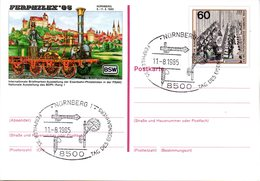 "BRD Amtliche GZS-Sonderpostkarte PSo 10 ""FERPHILEX'85 In Nürnberg"" WSt ""XIX. Weltpostkongreß.., SSt 11.8.1985 NÜRNBERG - BRD"