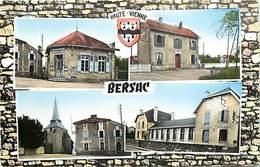 - Dpts Div.-ref-AD127- Haute Vienne - Bersac - Souvenir De ..- Multi Vues Dont Gare - Poste - Ecole - Carte Bon Etat - - France