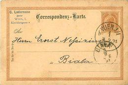 Carte Postale - Entier  AUTRICHE - 1891 C. Ledermann Junior - Entiers Postaux