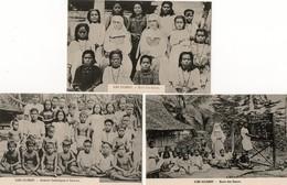 Océanie. 3 CPA.  Iles Gilbert.  école Des Soeurs, Enfants Catholiques à Tarawa. - Kiribati
