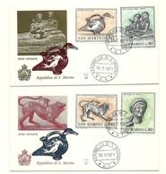 1971 - San Marino 832/35 Arte Etrusca - FDC, - Archeologia