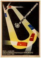 Car Automobile Grand Prix Postcard Messina 1953 - Reproduction - Publicité